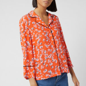 Whistles Women's Digital Daisy Pyjama Print Shirt - Flame/Multi