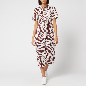 7d5886f0fc Whistles Women's Graphic Zebra Shirt Dress - Brown/Multi