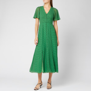 Whistles Women's Cecily Check Dress - Green/Multi