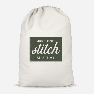 Just One Stitch At A Time Cotton Storage Bag