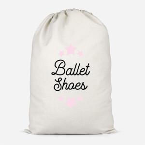 Ballet Shoes Cotton Storage Bag