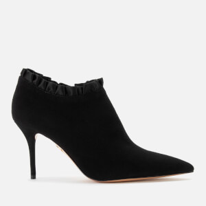 Charlotte Olympia Women's Satin Heeled Shoe Boots - Black