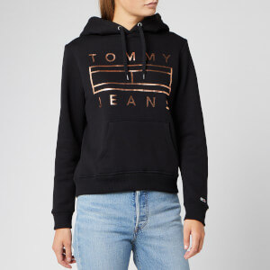 Tommy Jeans Women's Essential Logo Hoodie - Tommy Black