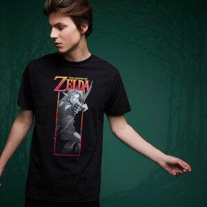 Camiseta Legend Of Zelda Arco Link - Negro