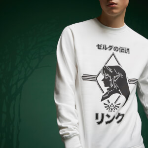 Sweatshirt Legend Of Zelda Link - Blanc