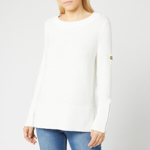 Barbour International Women's Garrow Knit Jumper - Off White