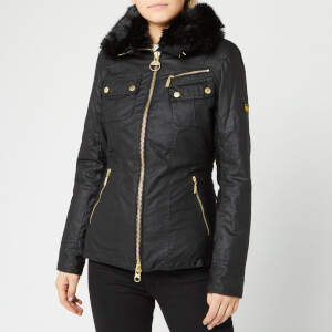 Barbour International Women's Ballig Wax Jacket - Black