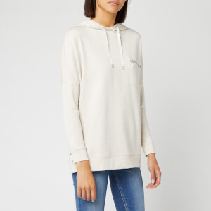 Barbour International Women's Nuburg Overlayer Sweatshirt - Oatmeal Marl