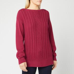 Barbour Women's Stockehold Knit Jumper - Deep Pink