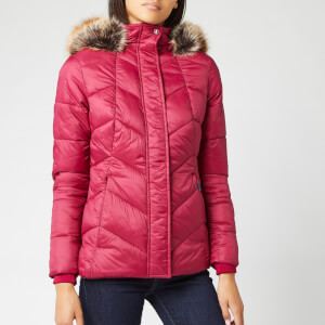 Barbour Women's Downhall Quilt Coat - Deep Pink/Navy
