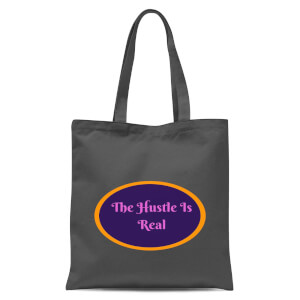 Lanre Retro The Hustle Is Real Tote Bag - Grey