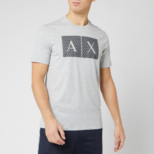 Armani Exchange Men's Box Logo T-Shirt - Heather Grey