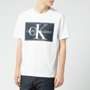Calvin Klein Jeans Men's Monogram Box T-Shirt - Bright White