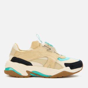 Puma Men's Thunder Disc Trainers - White Smoke/Pale Khaki