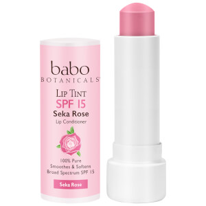 Babo Botanicals SPF15 Tinted Lip Conditioner - Seka Rose 0.15oz