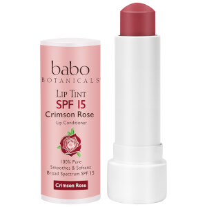 Babo Botanicals SPF15 Tinted Lip Conditioner - Crimson Rose 0.15oz