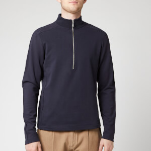 Folk Men's Tech Funnel Half Zip Sweatshirt - Navy