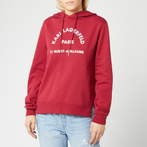 Karl Lagerfeld Women's Address Logo Hoody - Rumba Red