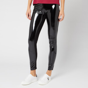 Karl Lagerfeld Women's Karl Faux Patent Leggings - Black