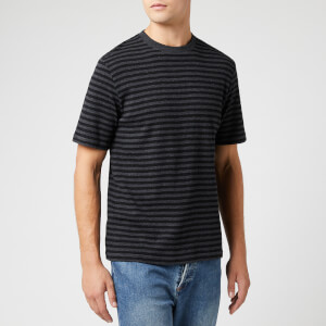 Folk Men's Classic Stripe T-Shirt - Charcoal Melange Black