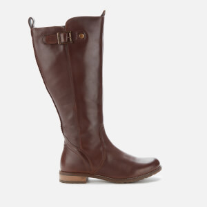 Barbour Women's Rebecca Leather Knee High Boots - Wine