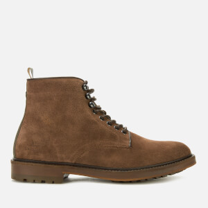Barbour Men's Seaburn Derby Suede Lace Up Boots - Tobacco