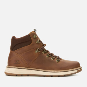 Barbour Men's Letah Leather Hiking Style Boots - Cognac