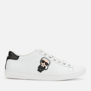 Karl Lagerfeld Women's Kupsole II Karl Ikonic Leather Cupsole Trainers - White/Black