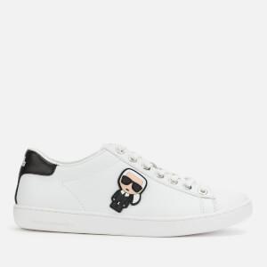 Karl Lagerfeld Women's Kupsole II Karl Ikonic Leather Cupsole Trainers - White/Black