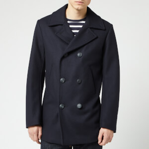 Armor Lux Men's Caban Wool Coat - Navire