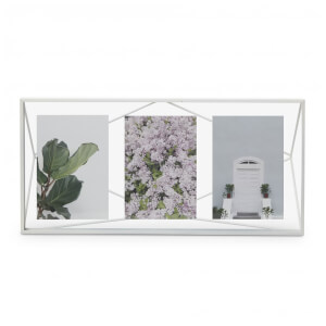 Umbra Prisma Three Photo Frame Display - White - 6 x 4""