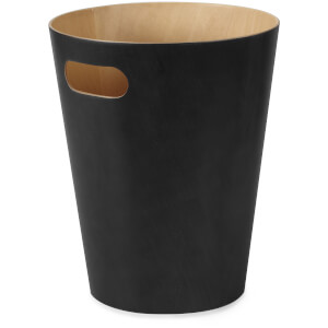 Umbra Woodrow Waste Can - Black