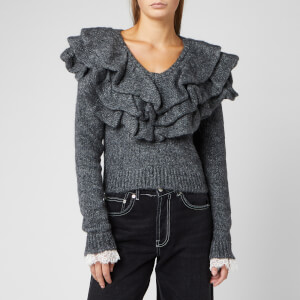 Philosophy di Lorenzo Serafini Women's Ruffle Neck Jumper - Grey