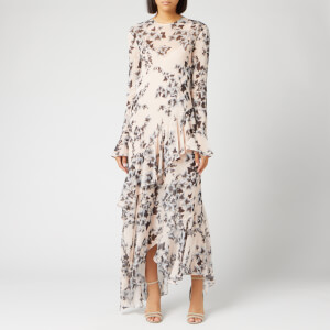 Philosophy di Lorenzo Serafini Women's Leaf Print Ruffle Dress - Cream