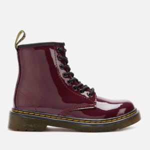 Dr. Martens Kid's 1460 Patent Leather Lace-Up Boots - Plum