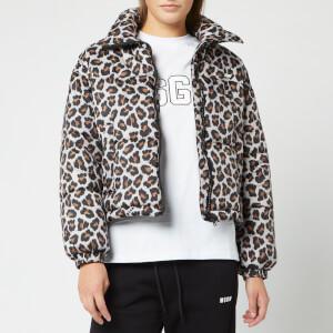 MSGM Women's Leopard Jacket - Beige