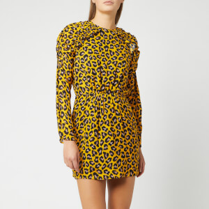 MSGM Women's Print Mini Dress - Yellow
