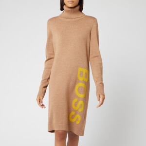 BOSS Women's Wabellettas Logo Knitted Dress - Camel