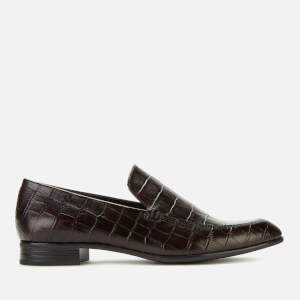 Vagabond Women's Frances Embossed Leather Heeled Shoes - Brown