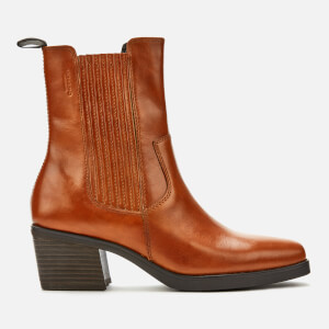 Vagabond Women's Simone Leather Heeled Chelsea Boots - Cinnamon