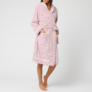 Joules Women's Rita Fluffy Dressing Gown - Stripe