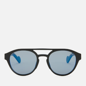 Moncler Men's Acetate Sunglasses - Black/Blue Mirror