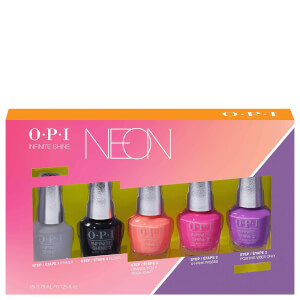 OPI Limited Edition PUMP Neon Collection - Infinite Shine Nail Polish 5 Piece Mini Pack