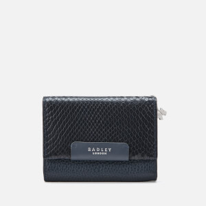 Radley Women's Arlington Court Faux Lizard Medium Flapover Purse - Ink