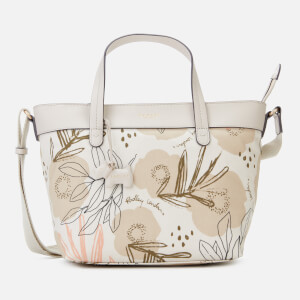 Radley Women's Desert Floral Medium Zip Top Multiway Bag - Chalk