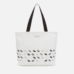Radley Women's Multi Dogs Large Zip Top Tote Bag - Natural