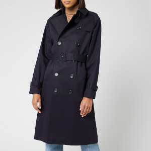 A.P.C. Women's Greta Trench Coat - Dark Navy