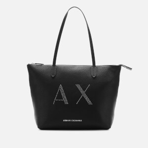 Armani Exchange Women's Kendall Studs Shopping Tote Bag - Black