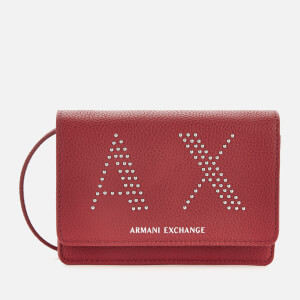 Armani Exchange Women's Kendall Studs Cross Body Bag - Royal Red