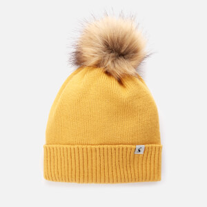 Joules Women's Snowday Pom Hat - Gold